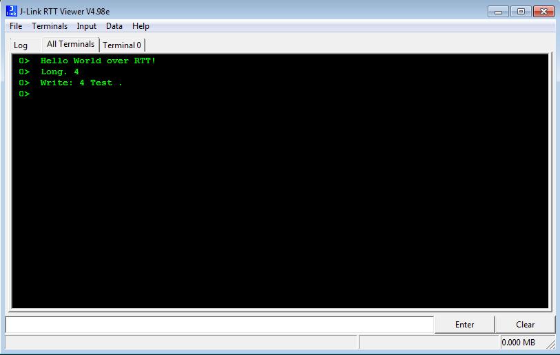 Debugging Nordic nRF51822 using SEGGER Real Time Terminal (RTT)
